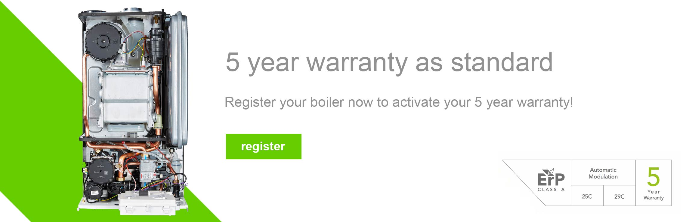 5 year warranty as standard